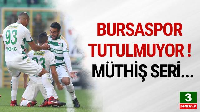 Bursaspor seriyi 6 maça çıkardı !