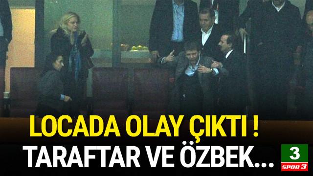 Dursun Özbek'in locasında olay !