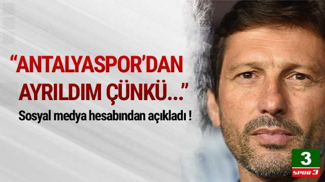 Leonardo: Antalyaspor'dan ayrıldım çünkü...