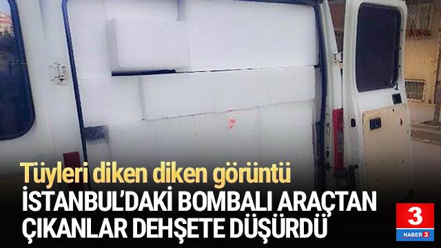 Bahçelievler'de bulunan bombalı aracın fotoğrafları ortaya çıktı