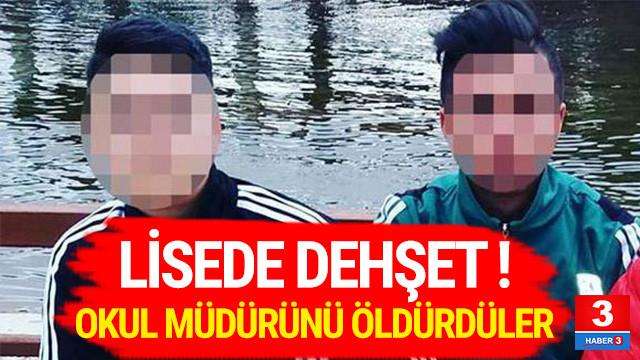 İki öğrenci okul müdürünü öldürdü