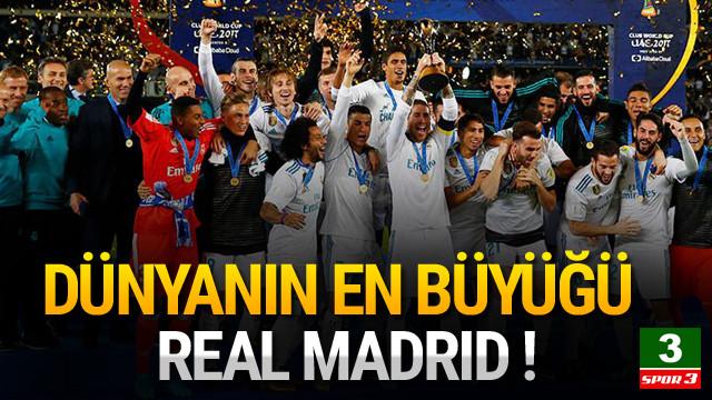 FIFA Kulüpler Dünya Kupası şampiyonu Real Madrid !