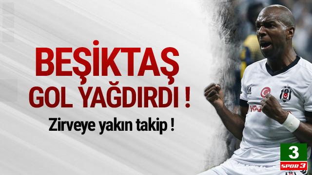 Beşiktaş Osmanlıspor'a gol yağdırdı !