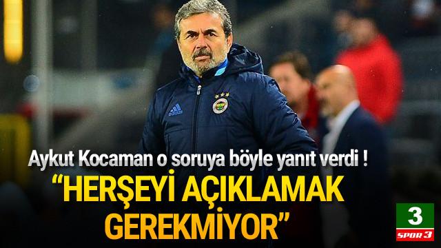 Aykut Kocaman'dan oyuncu tercihi açıklaması