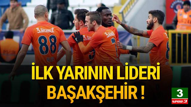 Ligde ilk yarının lideri Başakşehir !