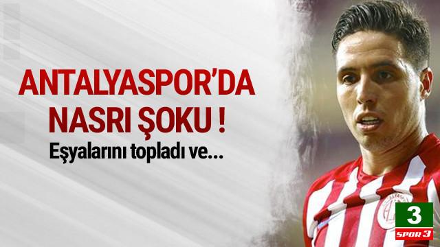 Antalyaspor'da Nasri depremi !