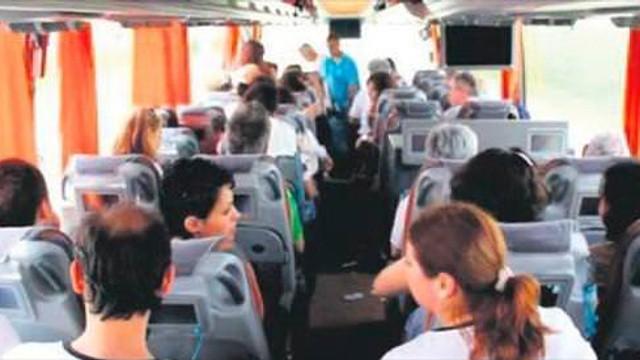 Otobüste mastürbasyon skandalı