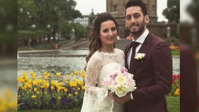 Hakan Çalhanoğlu evlendi
