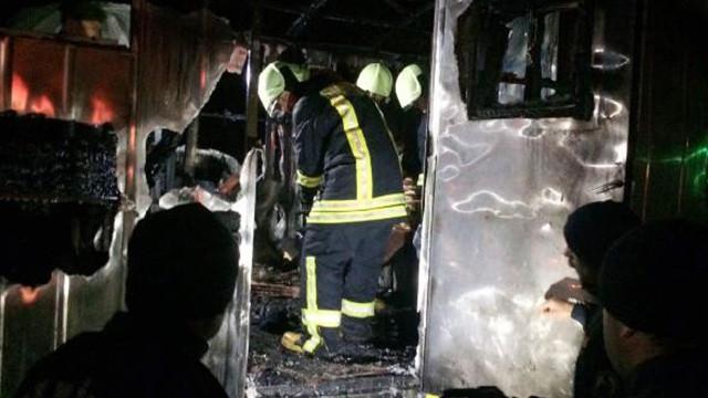 Şantiyede yangın faciası: 1 ölü, 2 yaralı