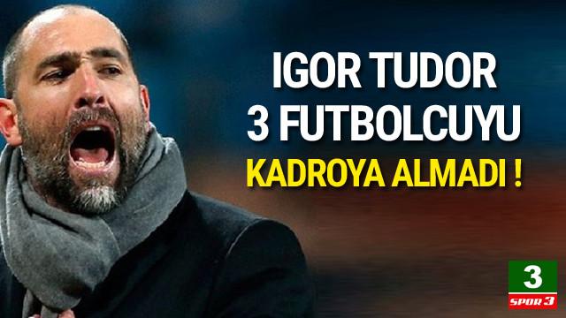 Galatasaray'da 3 isim kadroda yok !