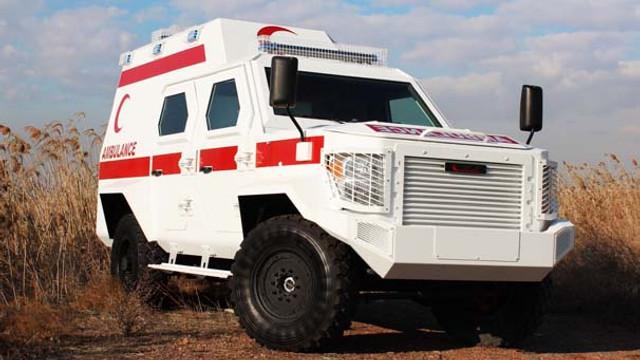 Zırhlı ambulans fuarda tanıtılacak
