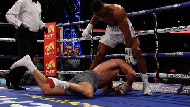 Joshua Wladimir Klitschko'yu devirdi !