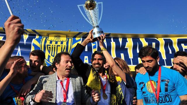 Ankaragücü şampiyonluk kupasını aldı