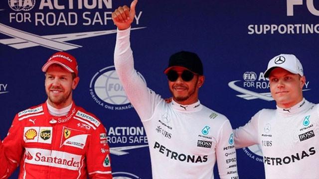 Çin'de Hamilton ilk sırada başlayacak