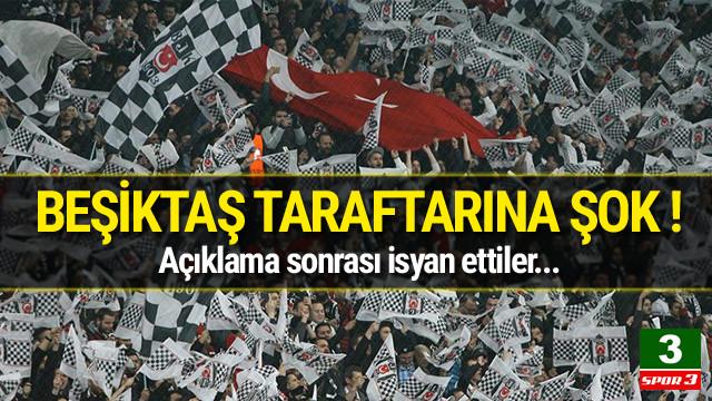 Beşiktaş taraftarından büyük tepki !