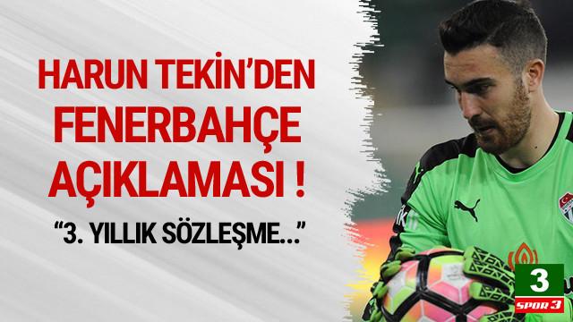 Harun Tekin'den Fenerbahçe açıklaması