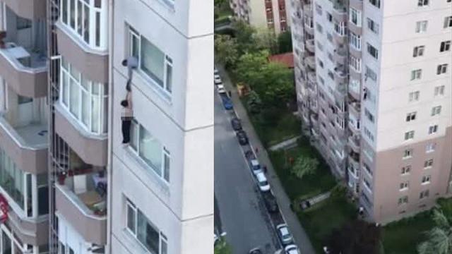 İstanbul'da 8. katta dehşete düşüren olay