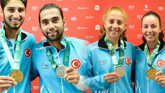 Teniste 2 altın 2 gümüş madalya geldi