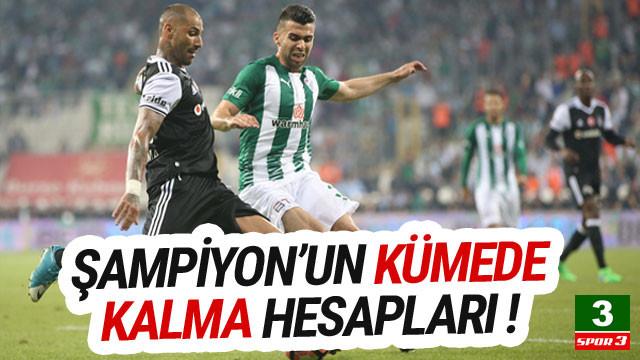 Bursaspor'da kümede kalma hesapları