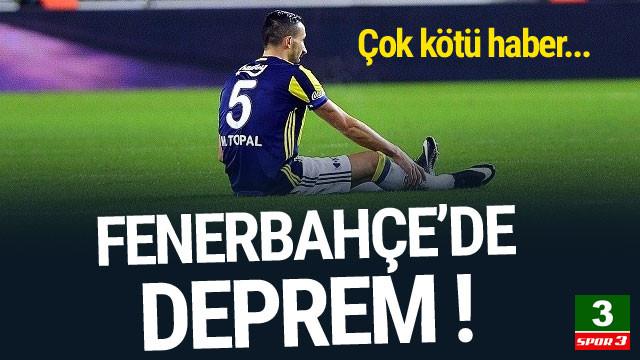 Fenerbahçe'de Mehmet Topal depremi !