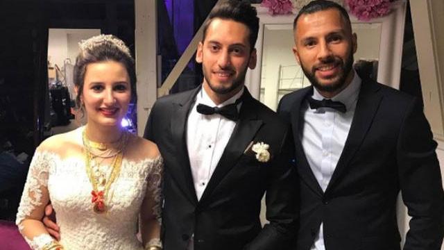 Hakan Çalhanoğlu'na düğün dayağı !
