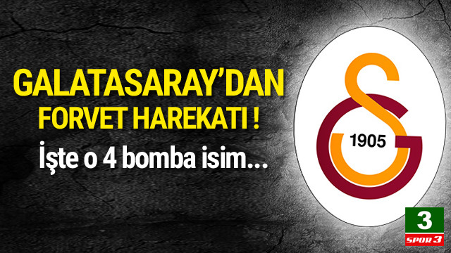 Galatasaray'dan 4 bomba birden !