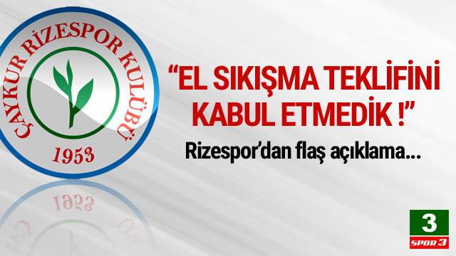 Çaykur Rizespor'dan 'Trabzonspor' açıklaması