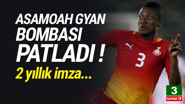 Ve Asamoah Gyan resmen Süper Lig'de