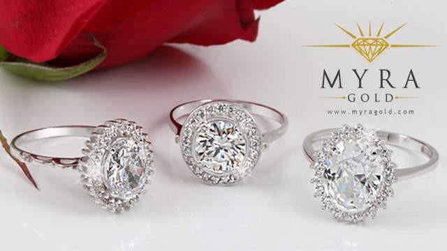 Tek Taş Yüzük Modelleri Myra Gold Yeni Sezon Tasarımlarında