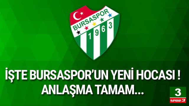 İşte Bursaspor'un yeni hocası !