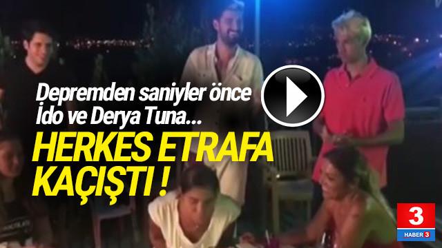 İdo ve Derya Tuna'nın deprem paniği kamerada