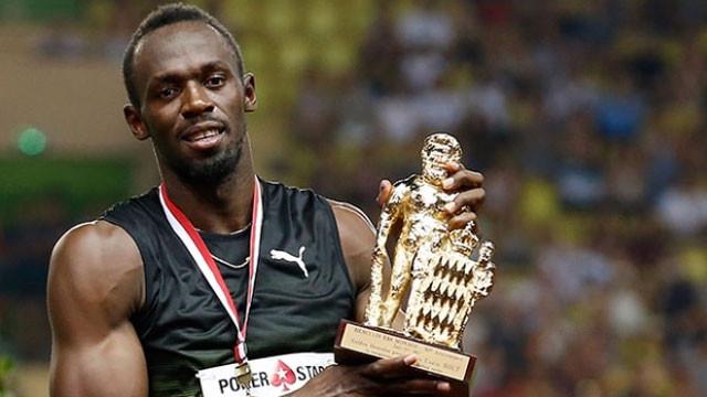 Usain Bolt bu kez Monaco'da 'uçtu'