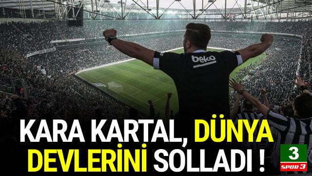Beşiktaş dünya devlerini solladı