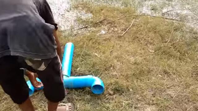 Balık tutma yönteminin böylesi!