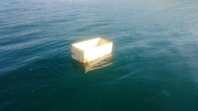 Denizden buzdolabı çıktı