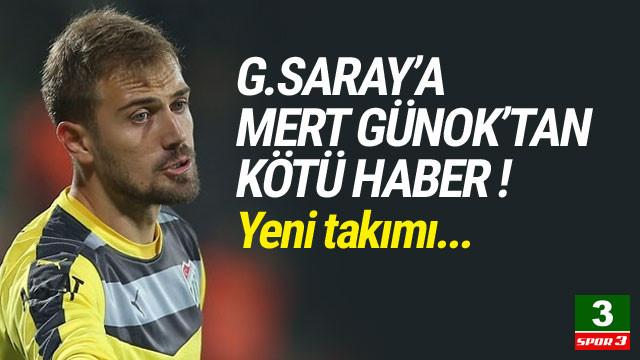 Galatasaray'a Mert Günok şoku !