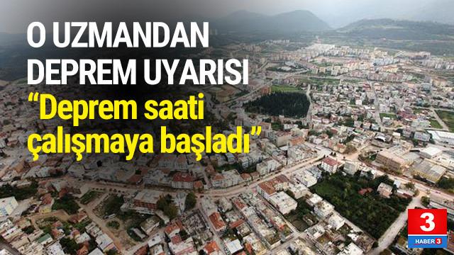 O uzman kenti uyardı: ''Deprem saati çalışmaya başladı