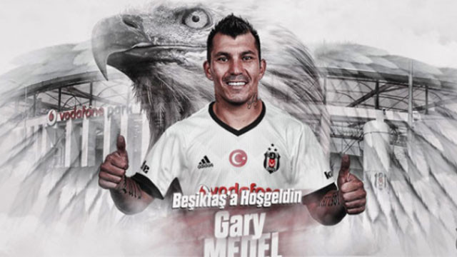 Beşiktaş, Gary Medel'i resmen açıkladı