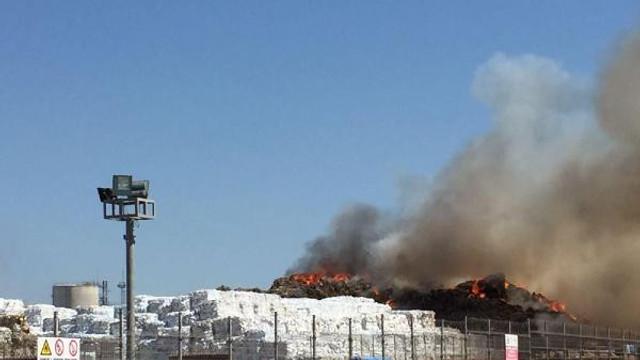 Tekirdağ'da depo yangını