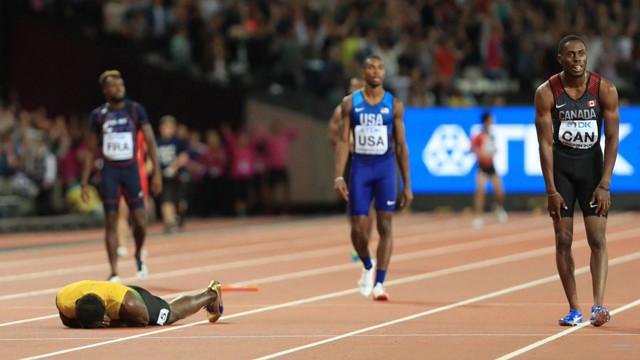 Usain Bolt'tan dramatik veda !
