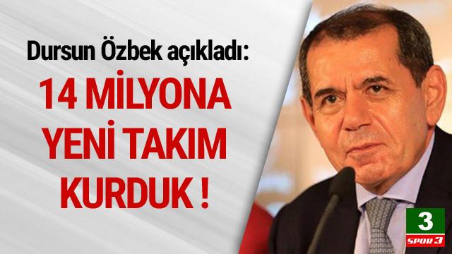 Dursun Özbek: 14 milyon Euro'ya yeni takım kurduk