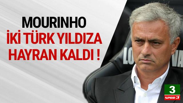 Mourinho iki Türk yıldıza hayran kaldı