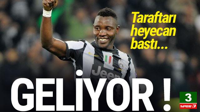 Galatasaray'da Asamoah heyecanı