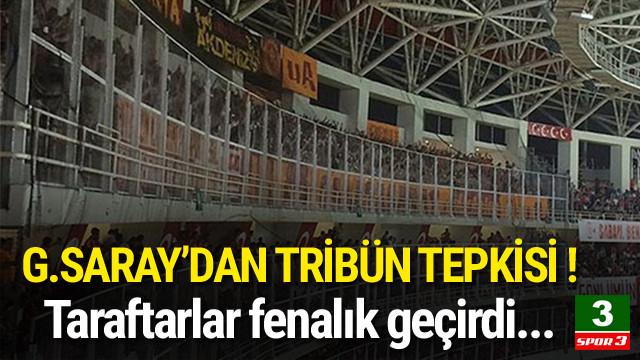 Galatasaray'dan tribün tepkisi !