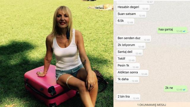 Sunucu Seda Akgül'e şantaj şoku