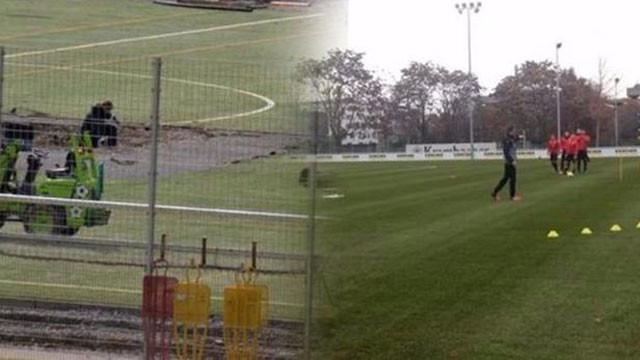 Stuttgart'ın antrenman sahasında bomba bulundu