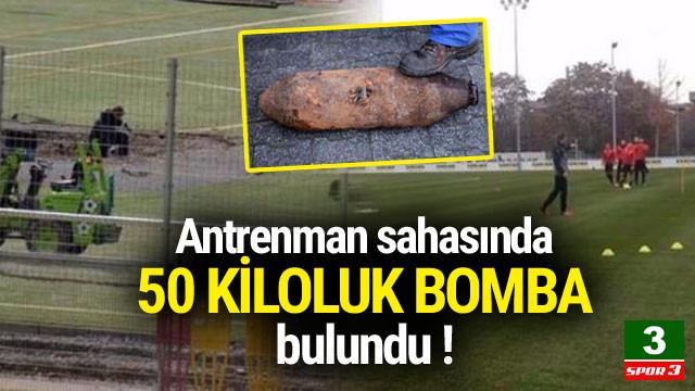 Antrenman sahasında bomba bulundu !