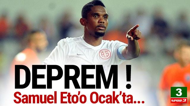 Antalyaspor'da Samuel Eto'o depremi