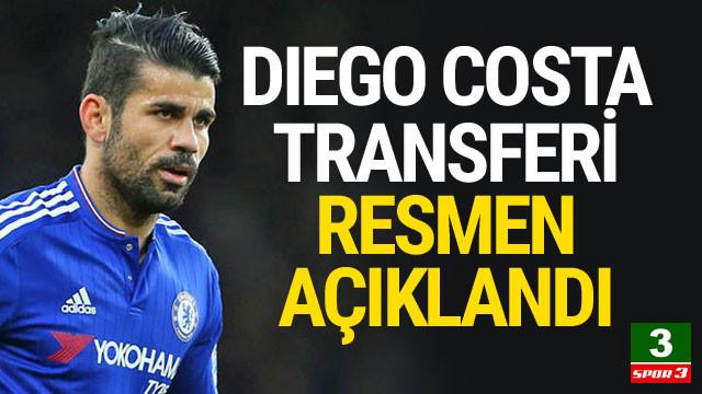 Diego Costa transferi resmen açıklandı