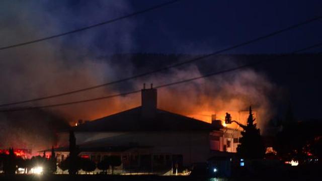 Çanakkale'de cezaevinde yangın !